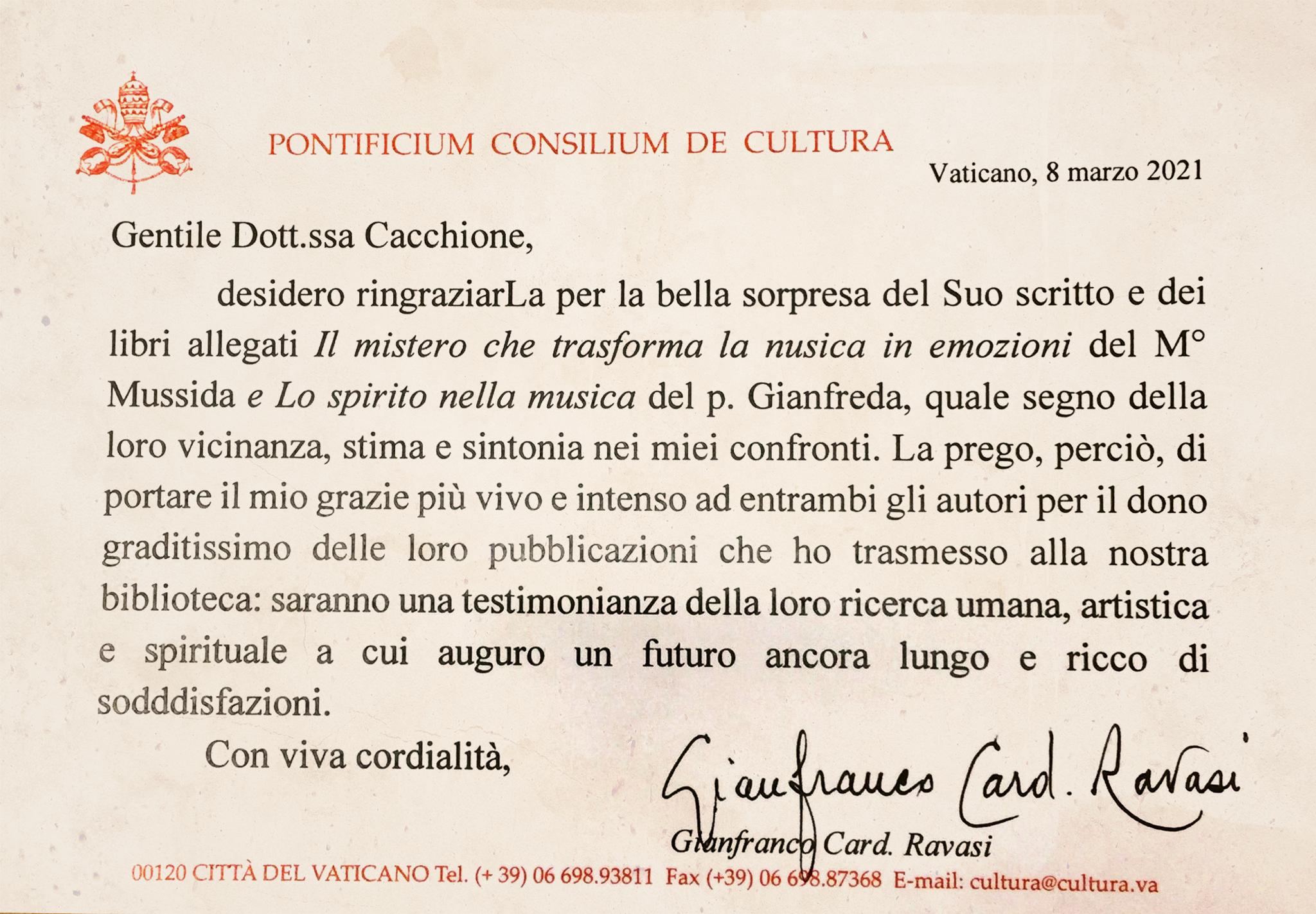 """""""Il mistero che trasforma la musica in emozioni"""" e """"Lo spirito nella musica"""" nella Biblioteca Vaticana"""